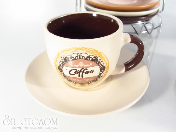Кофейный сервиз на стойке elina el 5034 13