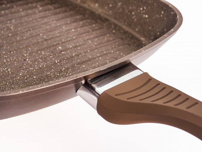 Сковорода-гриль з бакелітовою ручкою  Lessner Chocolate Line 28 см 88365