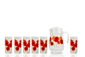 Набір для напоїв Arcopal Red Romance P6038 з 7 предметів